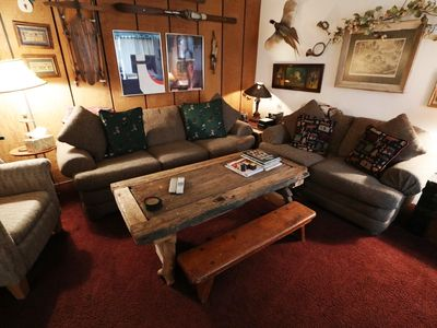 Photo for Mountain Rustic Condo, On the Shuttle Route, Walk to Shops and Restaurants