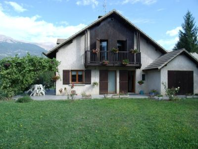 Photo for House -chalet with flat garden, not overlooked, near the lake of Serre ponçon