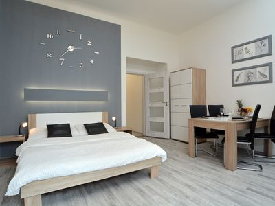Photo for Navratilova Studio apartment in Staré Mesto with WiFi & lift.