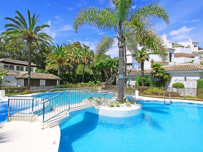 Photo for 1097 Beachfront apartment 50 mtr  beach new refurbished 2 pool areas