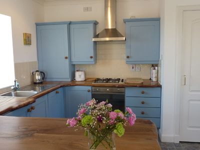Bespoke kitchen with real wood bench top