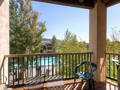 Photo for Poolside Condo, Only a Short Walk to Base Area Shops & Restaurants, Great Summer Getaway