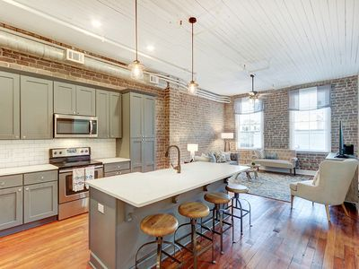 Photo for Location, location, location! Chic New Broughton Loft in the heart of Savannah