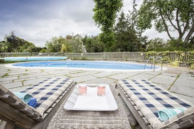 Heated outside pool with private terrace