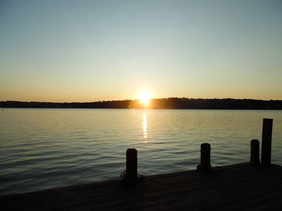 Photo for Lake Tillery- Beautiful sunrises, large screened porch, and newly renovated home