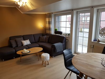 Photo for 'Scholle 9'- modern apartment, 2 bedrooms, sleeps 4 in Greetsiel - Wi-Fi