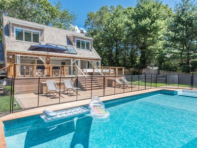Photo for Newly renovated south-of-the-highway East Hampton village beach paradise