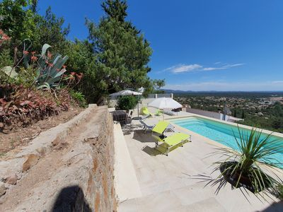 Photo for Villa 6 pers with private pool - superb sea view