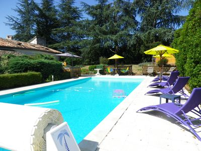 Photo for Secluded house: charm, big park, salt pool, Spa, fitness, boules, Wi-Fi and view