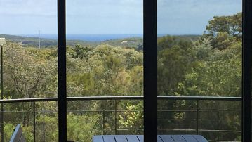 Great ocean views on 8 acres of magical bushland