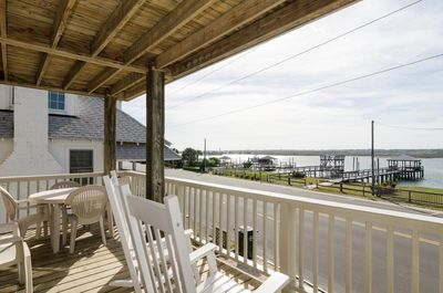 Porch area with views of Banks Channel.