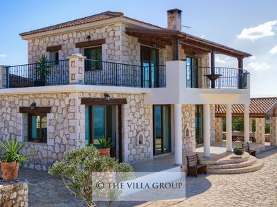 Photo for Spacious and secluded 3 bedroom stone villa with stunning  panoramic views