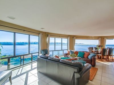 Photo for Enjoy the beautiful water views at this 4 bedroom South Mission condo!