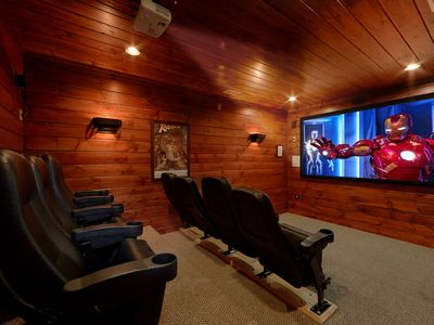 Photo for 5 Star 4 Bedroom Cabin with Private Theater Room and Sauna