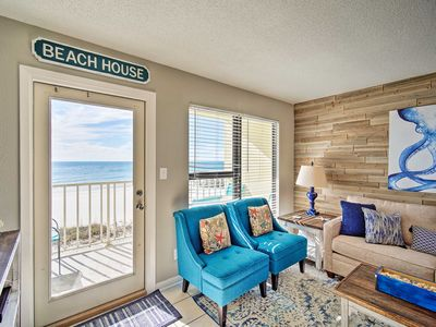 Photo for NEW! Gulf Shores Beachfront Condo: Walk to Hangout