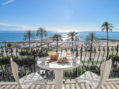 Photo for LITTLE WHITE Beautiful beachfront apartment in Sitges.