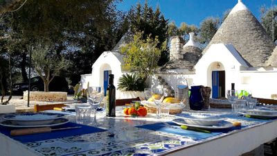 Photo for Authentic Trullo with pool, ideal 2 families 10 minutes from Ostuni
