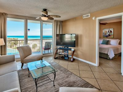 Photo for 2BR Upscale Beachfront at Pelican, Ocean View, Pools Beach Chairs, Wifi, Netflix