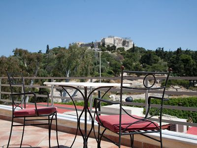 Photo for Across from the Acropolis and ten minute walk to Plaka, the old city of Athens.
