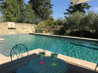 Photo for New: Gîte in 18th century Provencal farmhouse surrounded by vineyards at the foot of Ventoux