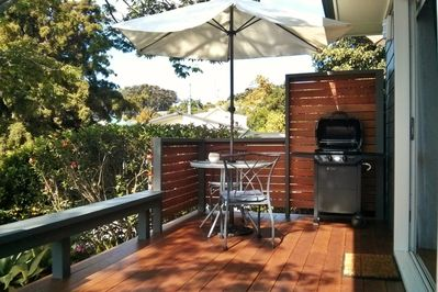 Relax on your own private deck. And there's a BBQ as well :-)