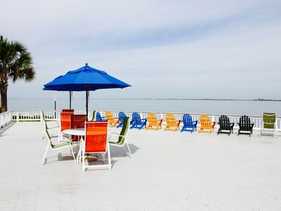Photo for Bay view, beachfront 1BR+1BR in Tampa for 8 guests
