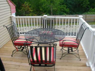 Deck - Eat, Watch the fireworks, gaze at the lake