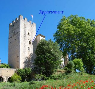 Photo for 120m2 flat in medieval wing of listed castle. Swimming nearby.