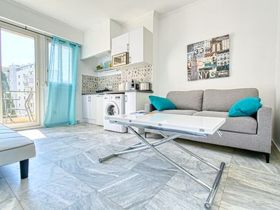 Photo for Very nice studio totally remodeled with a nice balcony, 3mn from the beach