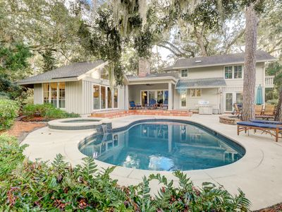 Photo for Luxe Home w/ Private Pool, Hot Tub, Fire Pit -- Access Resort Beaches &  Golf