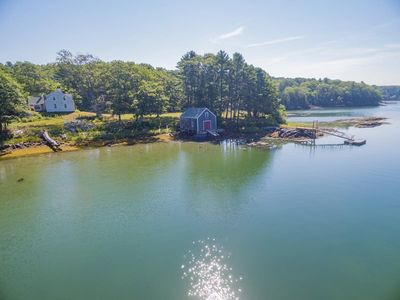 Photo for 4 Bedrooms, 2 Bathrooms, Historic Maine Waterfront Living, Secluded Cove, Boathouse with Dock & Floa
