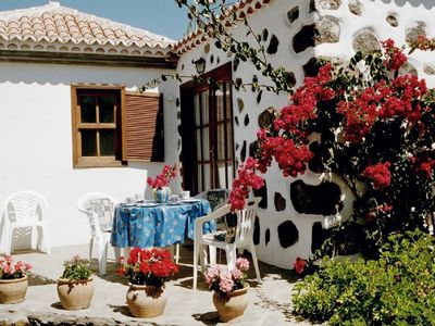 Photo for Canary Island style house with stone walls, surrounded by a terrace