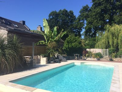 Photo for Country house heated pool 15 minutes from the Gulf of Morbihan