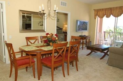 Dining Room, Living Room and Balcony