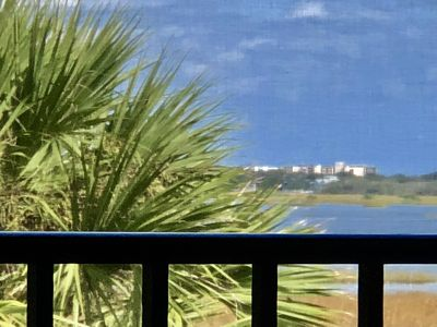 Photo for Upstairs condo situated directly on the Intracoastal Waterway with stunning view