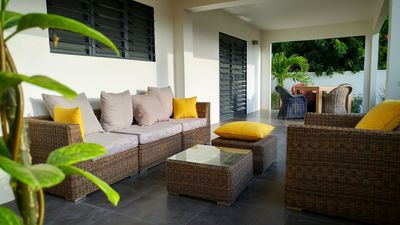 Your own private Lanai with separate sitting and dining area!