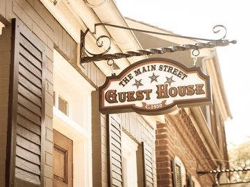 The Main Street Guest House, located at #422 S. Main St, sleeps 8