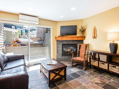 Photo for NEW LISTING! Comfy condo close to skiing, w/shared hot tub, pool, gym, saunas