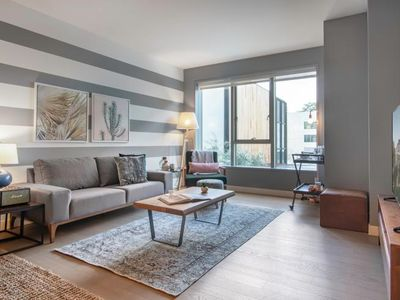 Photo for Comfy Downtown 1BR, w/ Gym + W/D next to The Broad by Blueground
