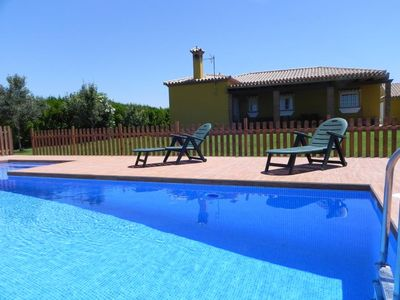 Photo for Nice Villa with private pool for 6 persons near Roche, with aircon and wifi