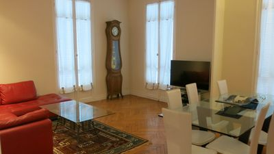 Photo for Large apartment, great location. Appartement spacieux,central. proche plage.