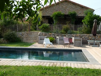 Photo for New! Old stone farmhouse with infinity pool