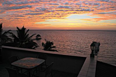 Rooftop view of a Belizean Sunrise