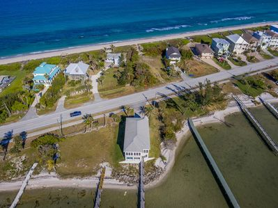 Property includes Ocean front as well as River access.