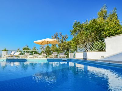 Photo for Villa Terri with Sea View, Private Pool, Direct Sea Access and Parking