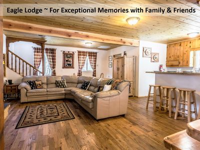 Photo for 3.5 Story Eagle Lodge- Great for group, Kids loft playroom & Second Floor Deck