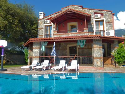 Photo for Rustic stone villa with private pool and large enclosed garden - FREE WIFI