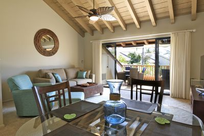 Indoor-Outdoor open air living with Vaulted ceilings.
