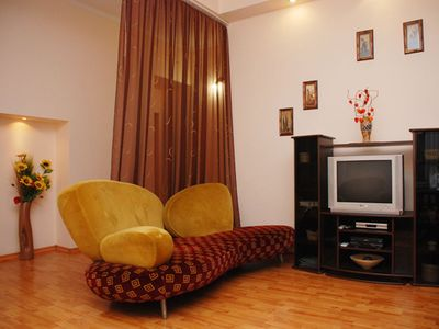 Photo for Two bedrooms on Maidan KreschatykWi Fi