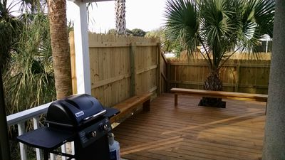 Back deck includes a gas grill...mmmm